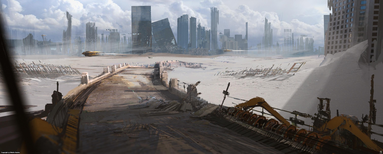 Desert City 2 Artwork by Wadim Kashin