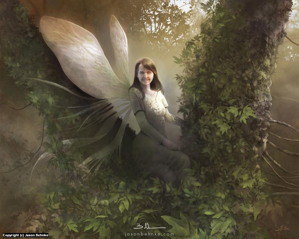 Amberle of the Fae Artwork by Jason Behnke