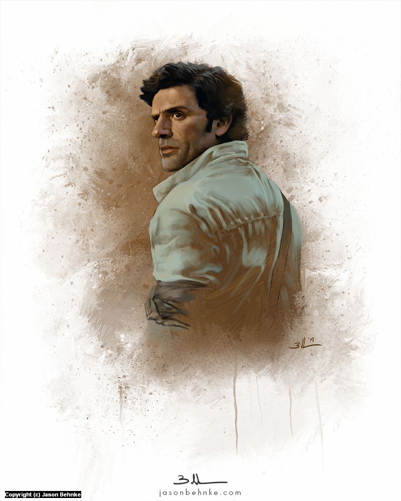 Poe Dameron Artwork by Jason Behnke