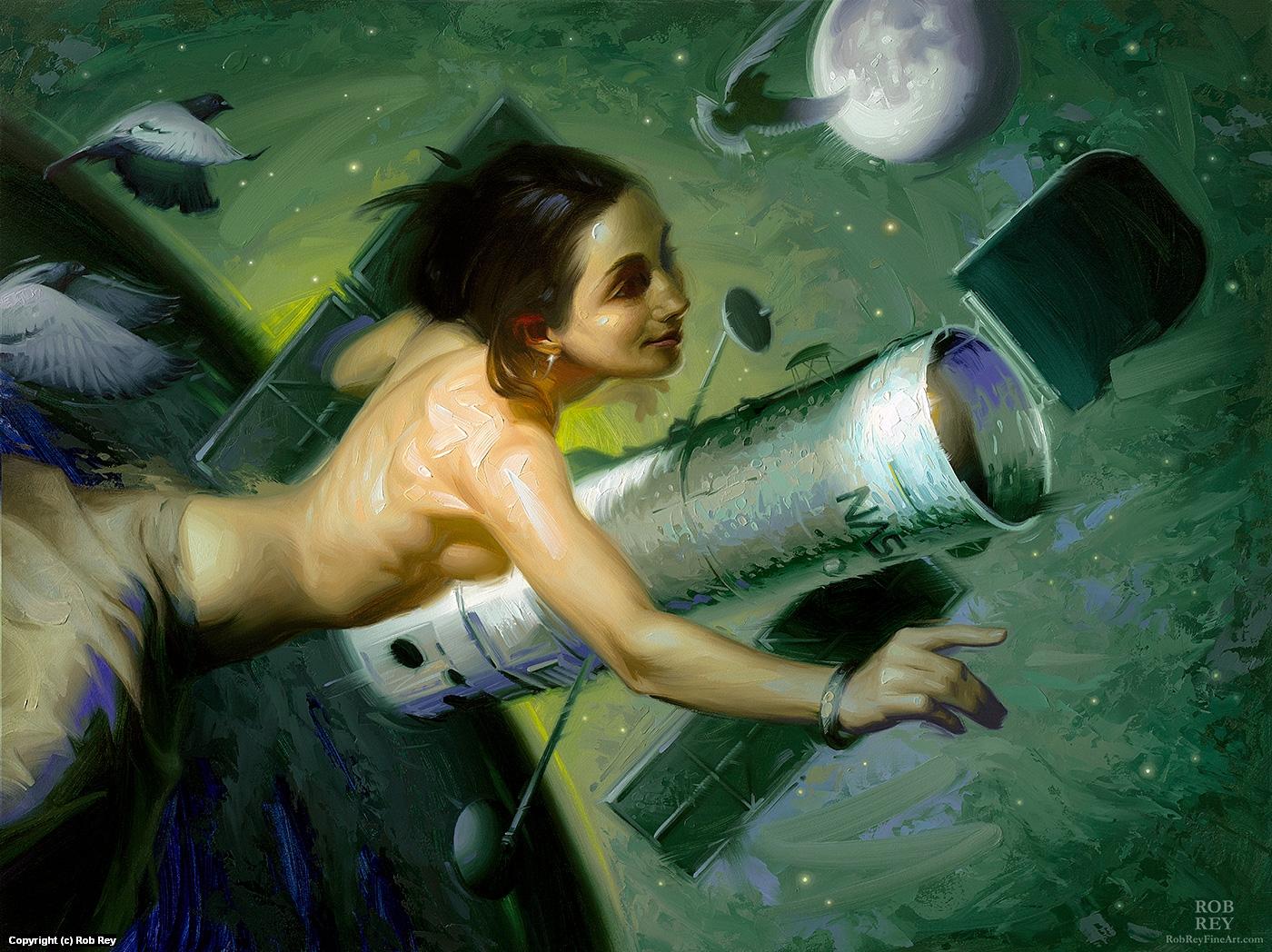 Hubble Deep Field Artwork by Rob Rey