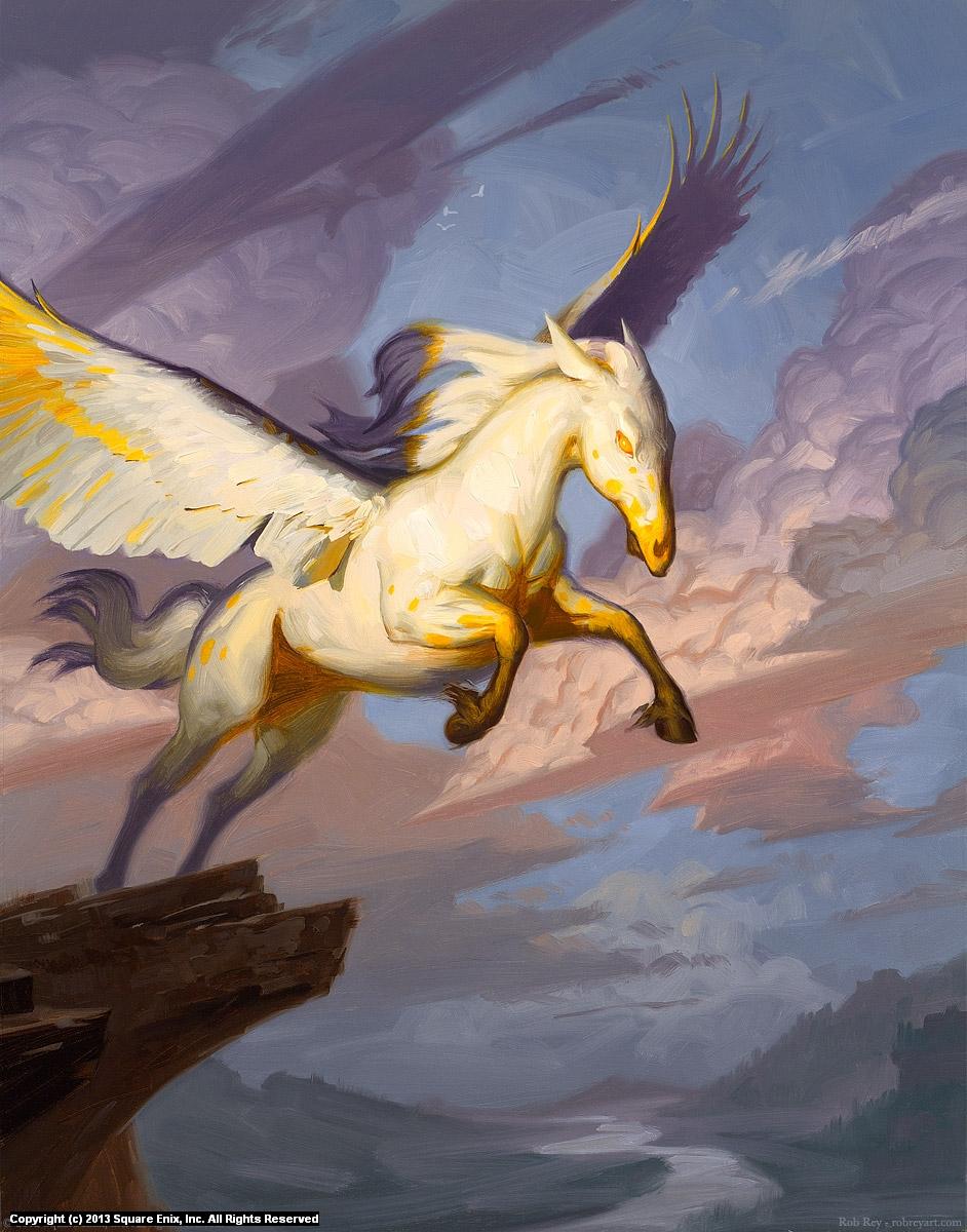 Spirecliff Pegasus Artwork by Rob Rey