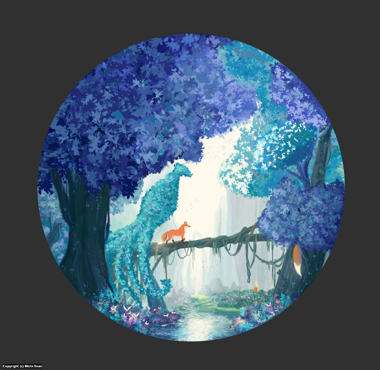 Enchantsia Forest Artwork by Michi Doan