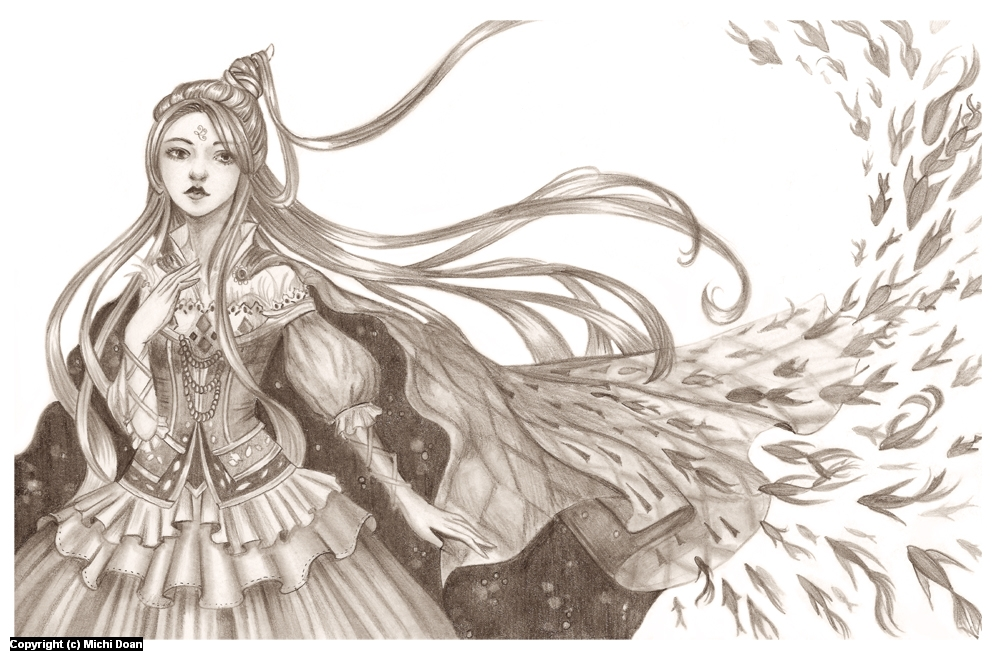 Water Goddess Artwork by Michi Doan
