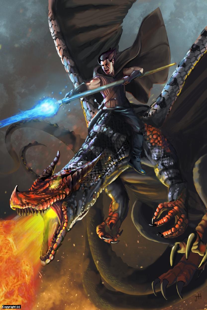 Dragon Wars Artwork by Jack Hoyle