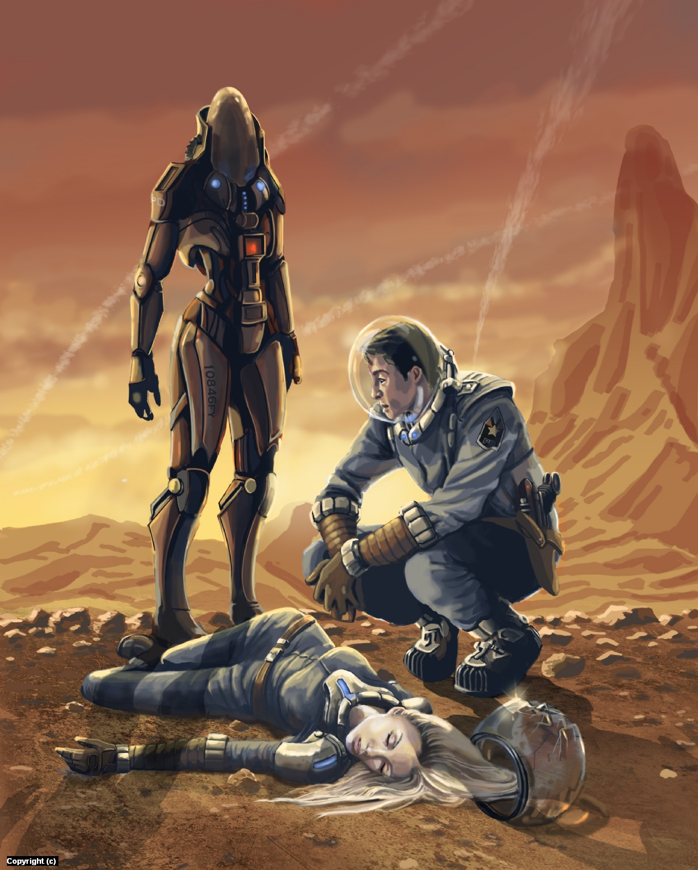 Murder on Mars Artwork by Jack Hoyle