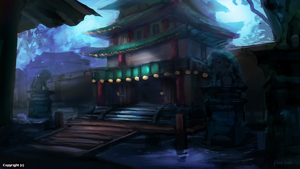 Blue Palace Artwork by Katie Ling