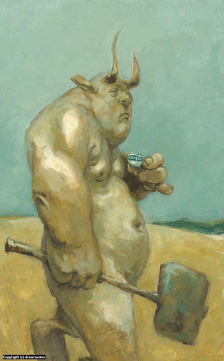 Kita Tea: A  Mediterranean Holiday Artwork by drew tucker