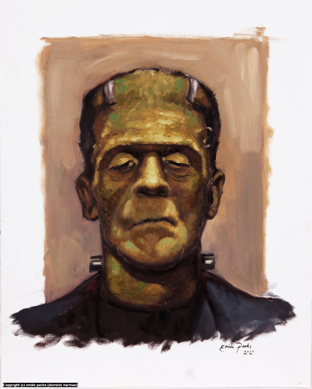 Frankenstein's Monster Artwork by emile parks