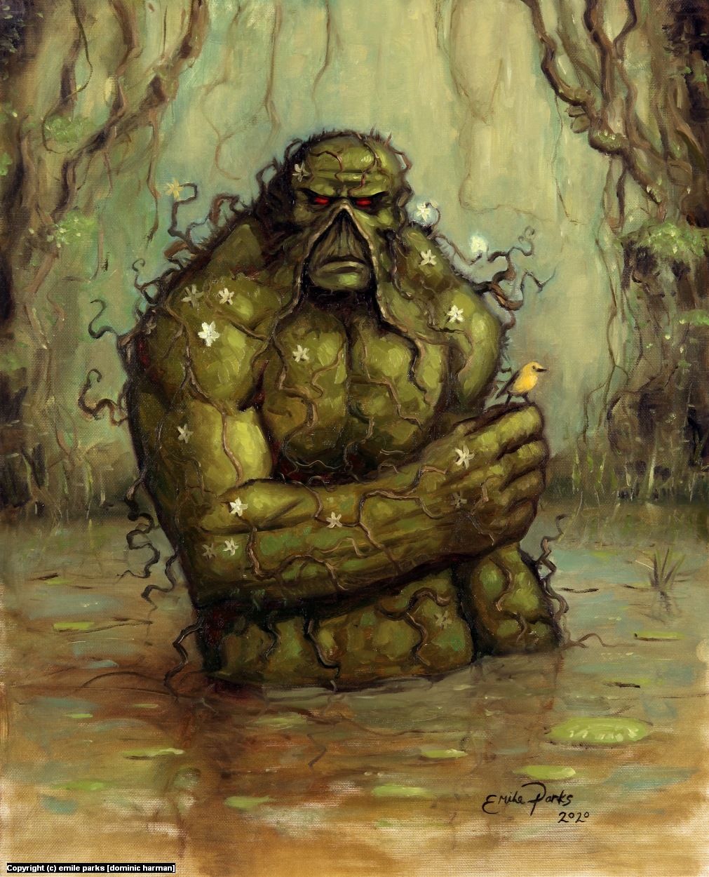 Swamp Thing Sketch Artwork by emile parks