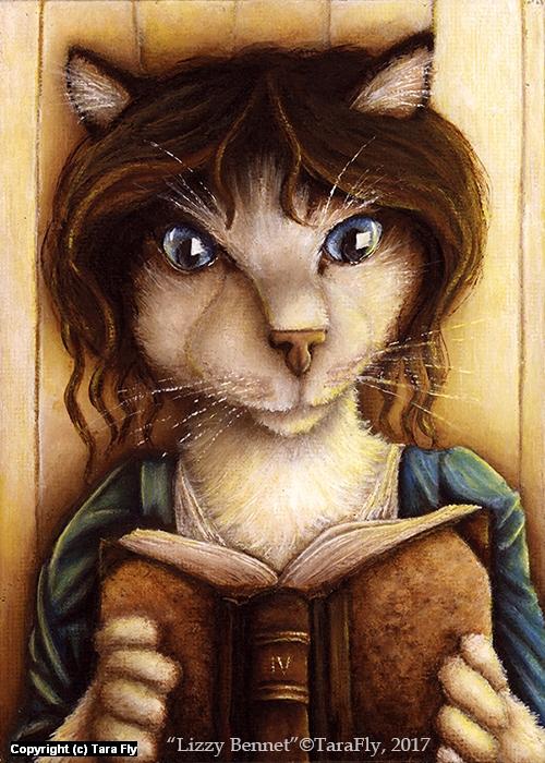 Lizzy Bennet Cat Artwork by Tara Fly