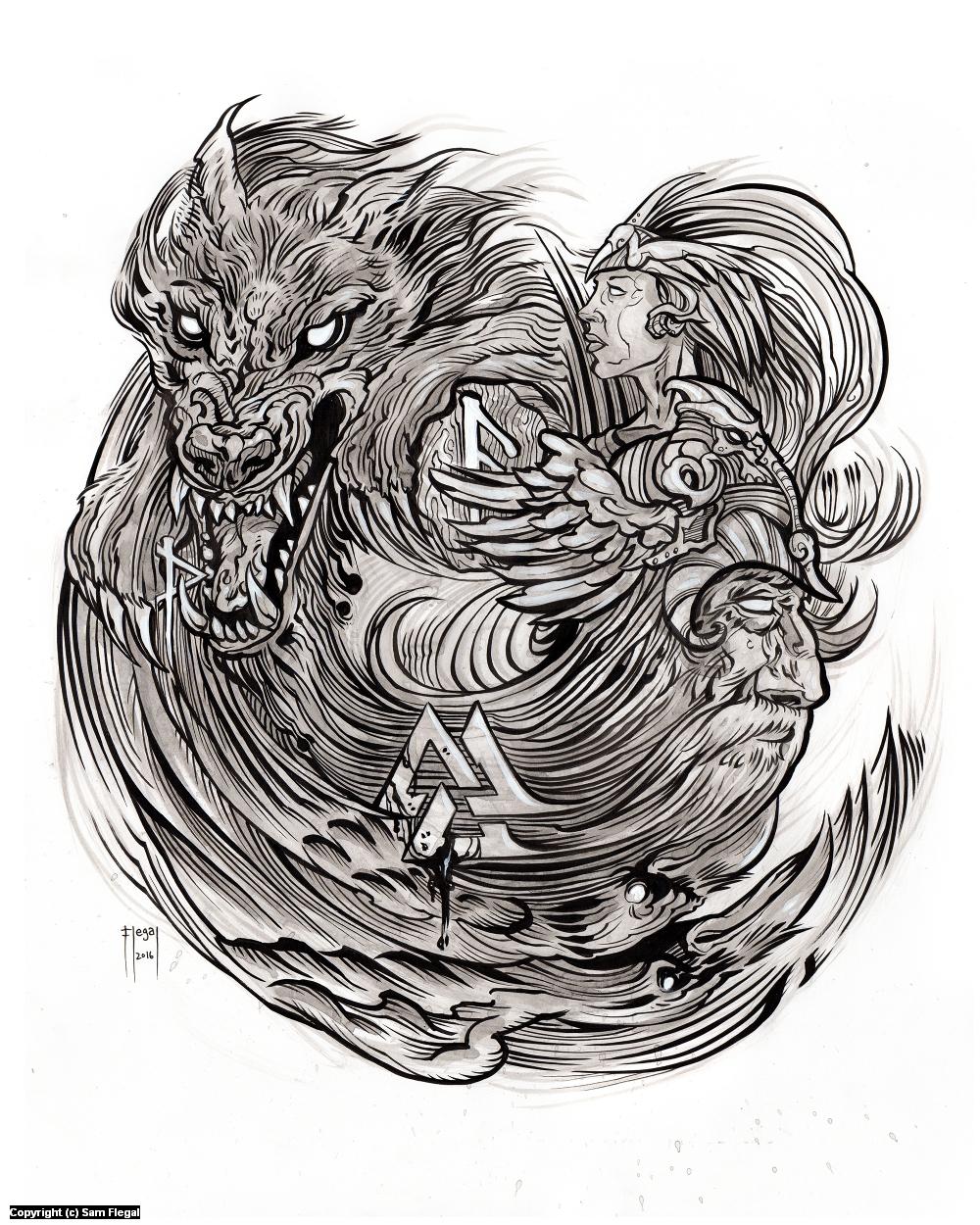 Runes Shalt You Find Artwork by Sam Flegal