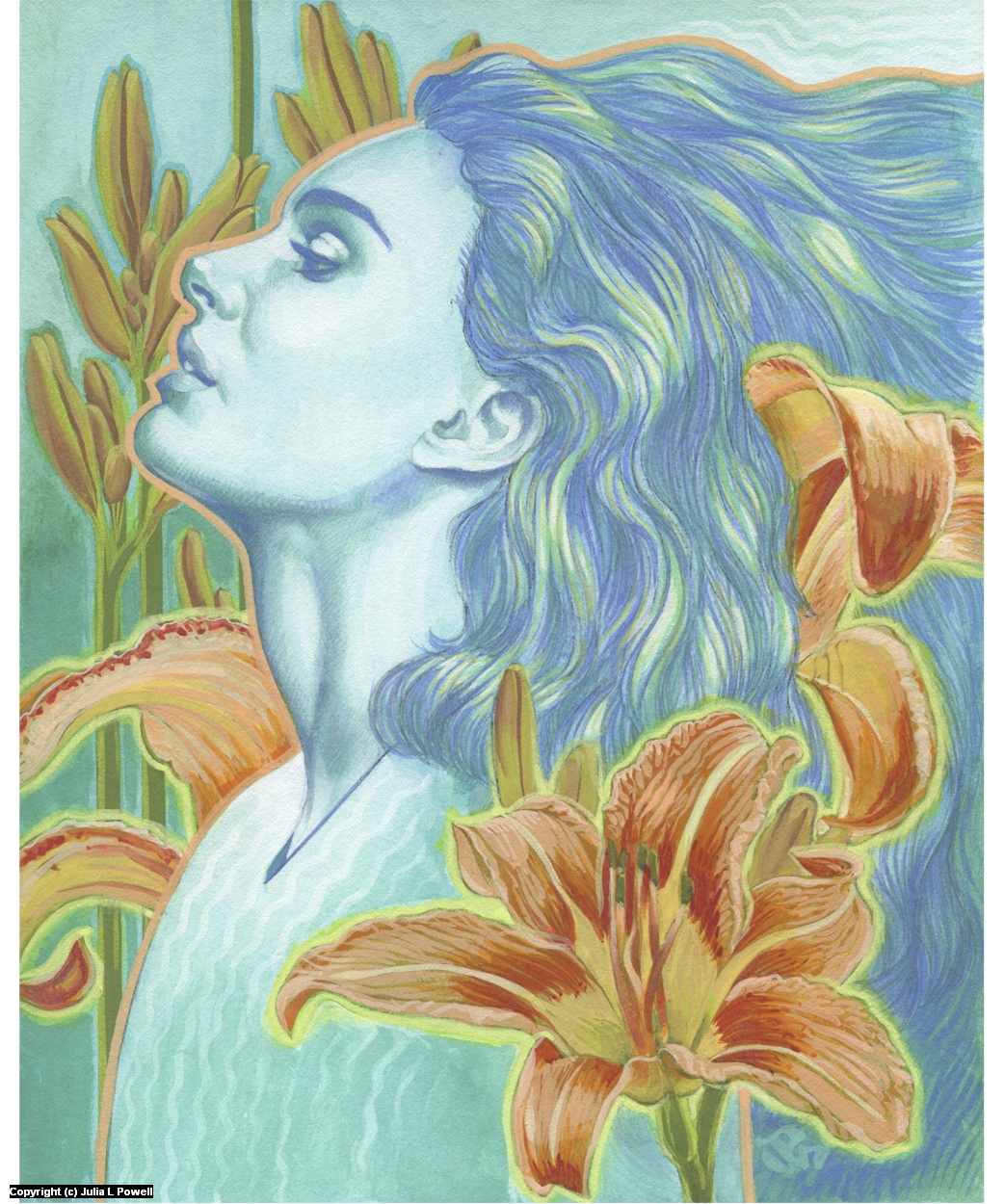Day Lily Ghost Artwork by Julia Powell