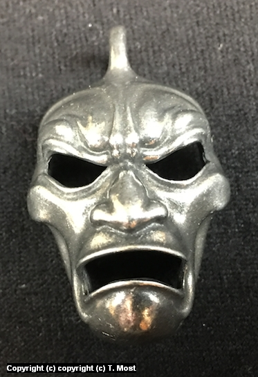 The 300 Immortal Mask Pendant Artwork by Thomas Most