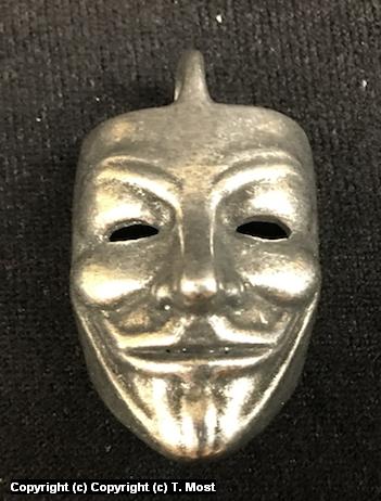 Guy Fawkes Pendant Artwork by Thomas Most