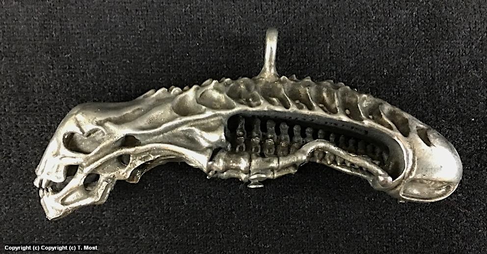 Alien Warrior Skull Pendant Artwork by Thomas Most