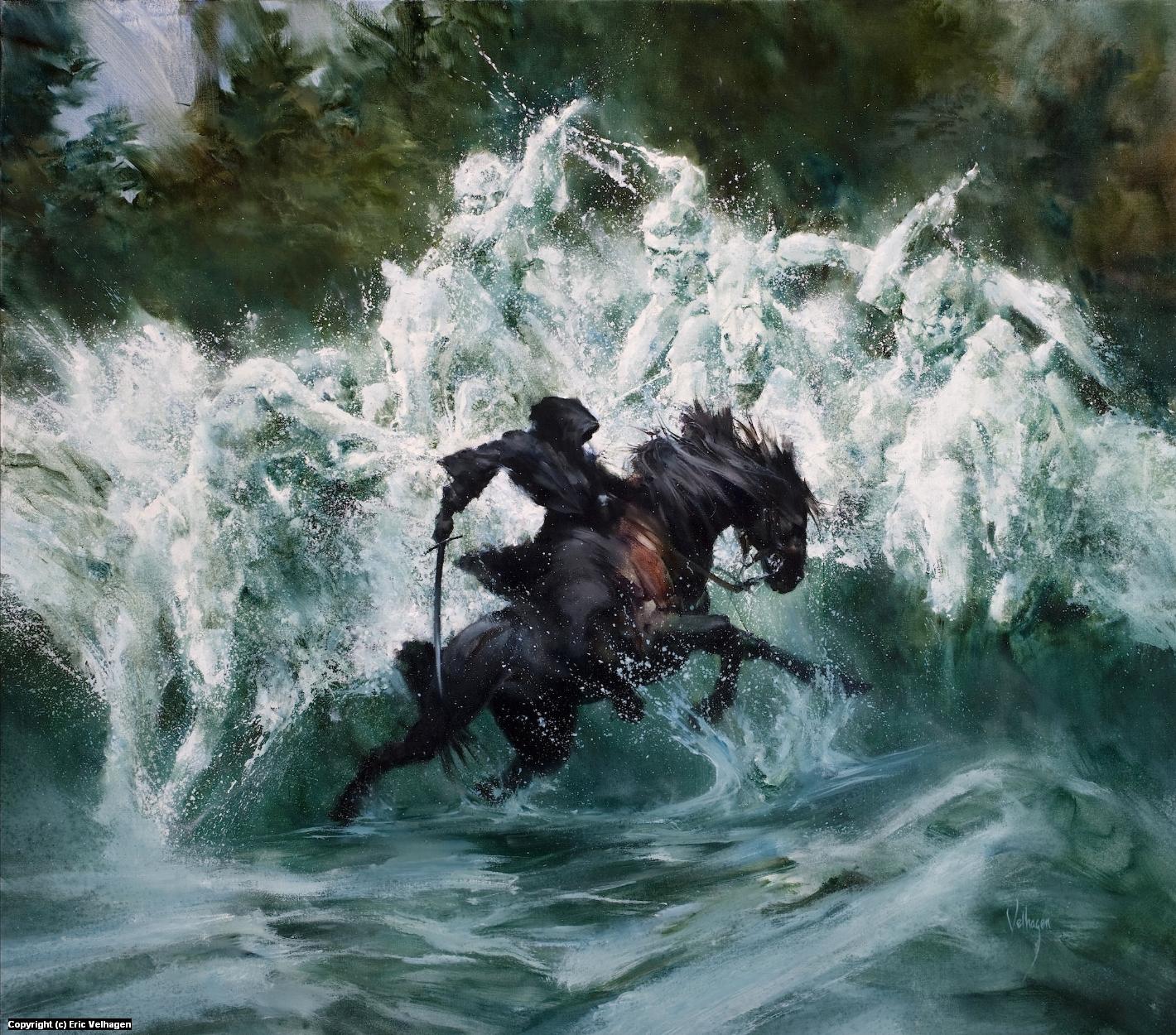 Roar of Bruinen Artwork by Eric Velhagen