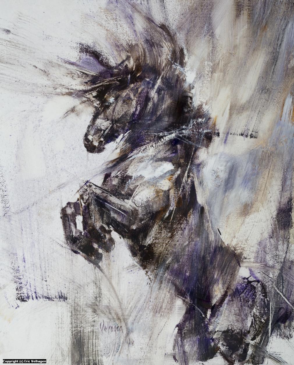 Abby's Horse Artwork by Eric Velhagen