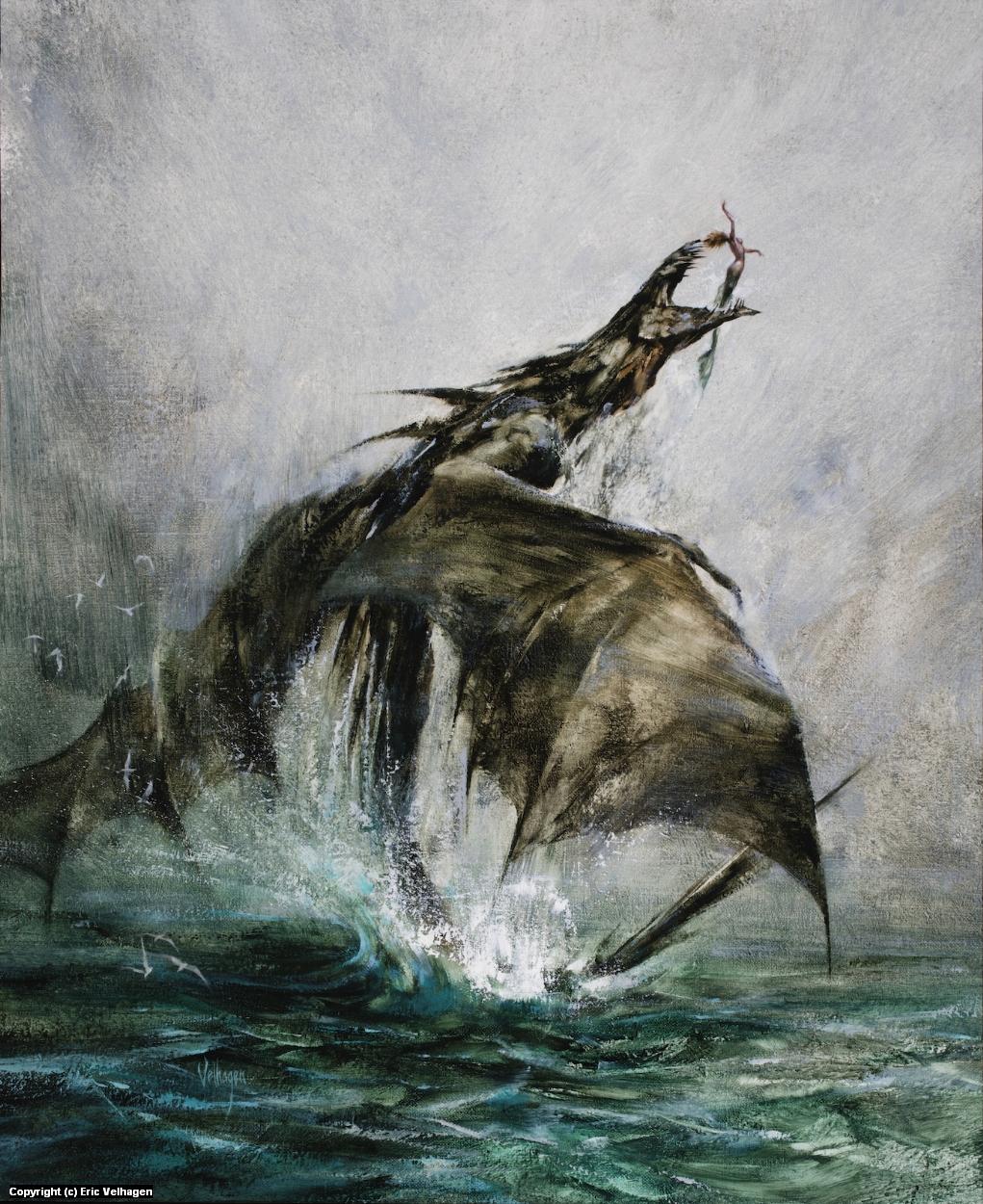 Kingfisher Artwork by Eric Velhagen