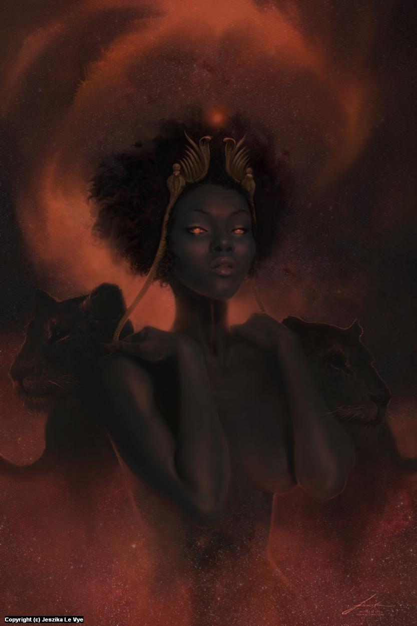 Sekhmet Artwork by Jeszika Le Vye