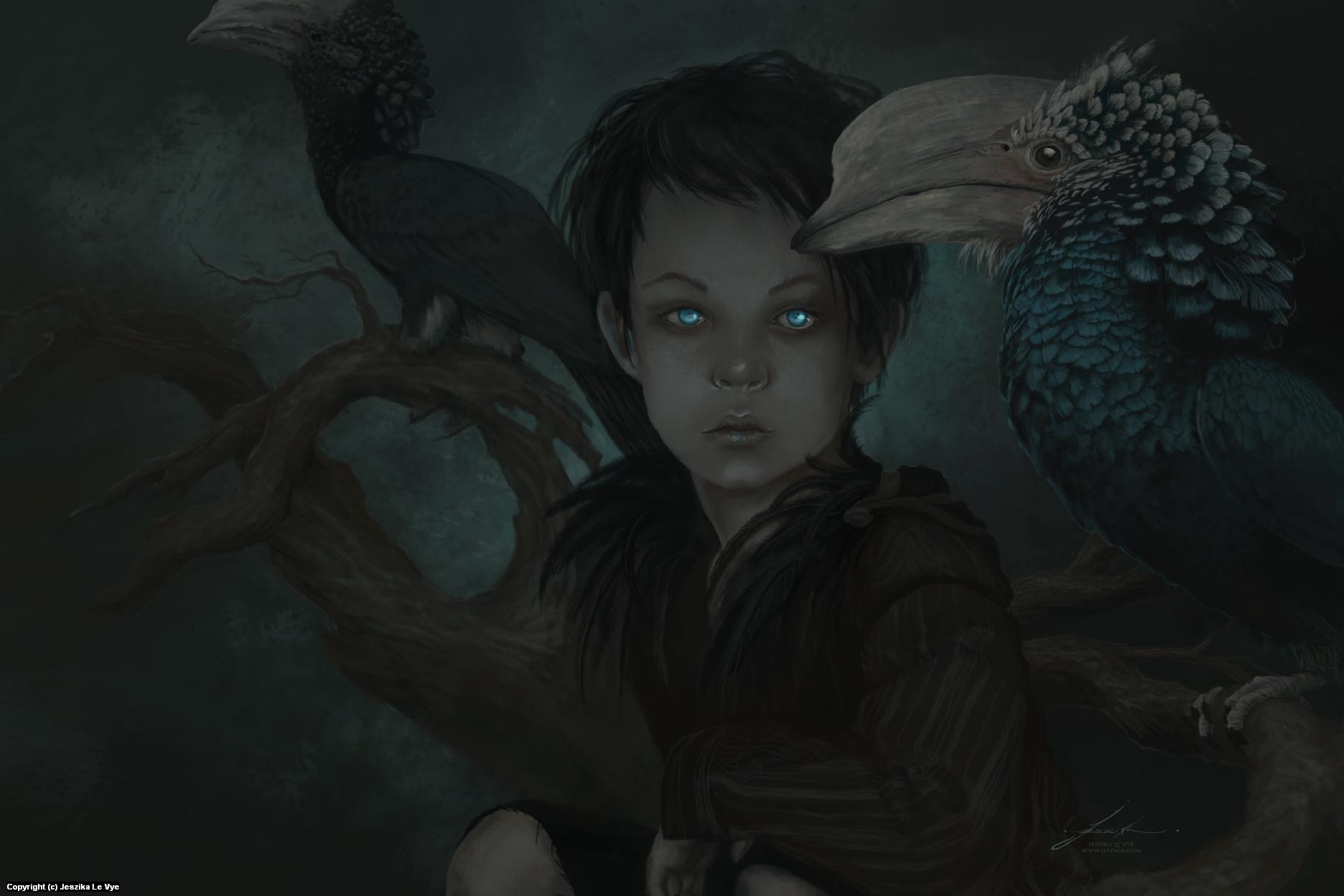 Peter Pan Artwork by Jeszika Le Vye