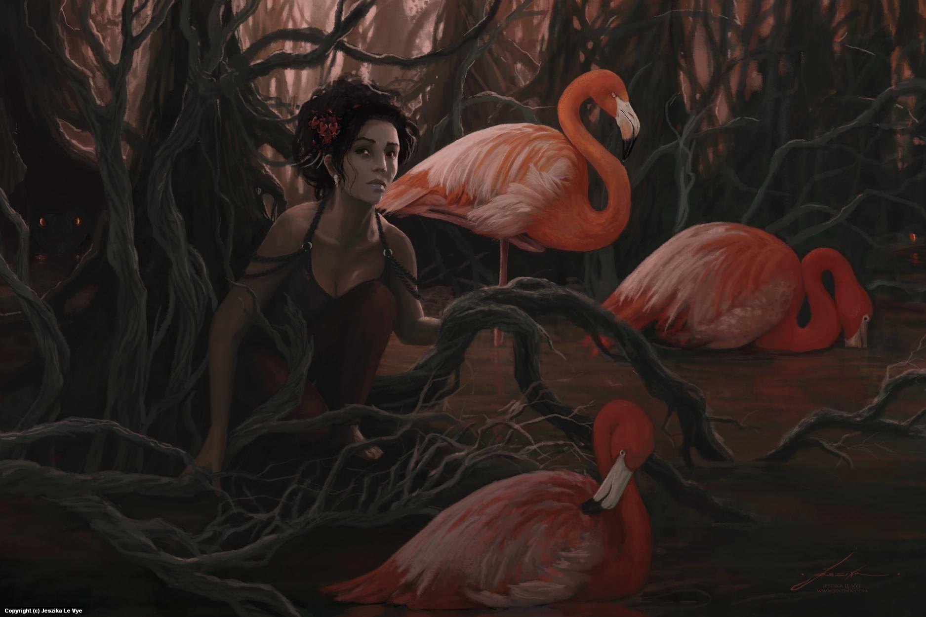Crocodile Nest Artwork by Jeszika Le Vye