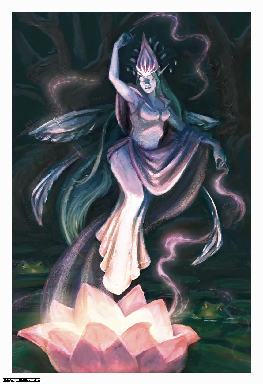 Titania, Queen of the Faeries Artwork by Ellerie Crum