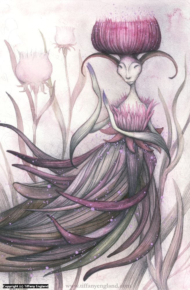 Thistle Queen Artwork by Tiffany England