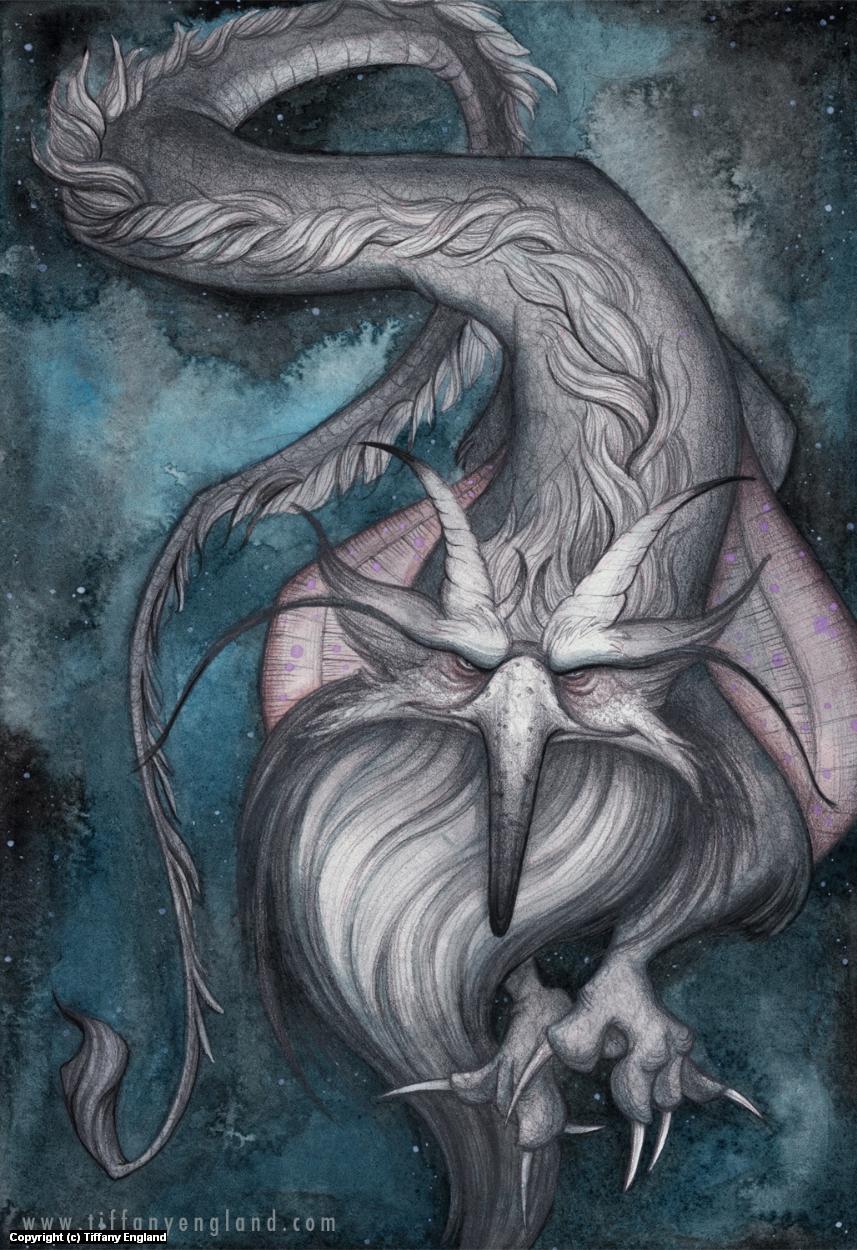 Grumpy Gryphon Artwork by Tiffany England