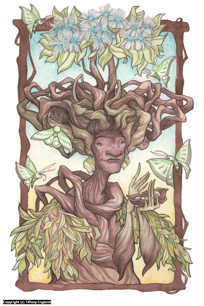 Yavann: Mother of the Earth, Giver of Fruits Artwork by Tiffany England