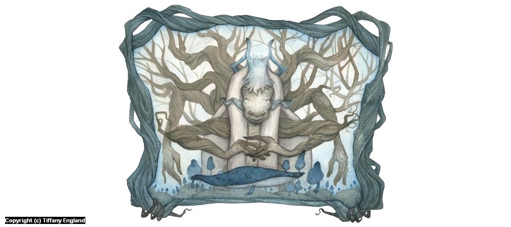 Spidertree Woman Artwork by Tiffany England
