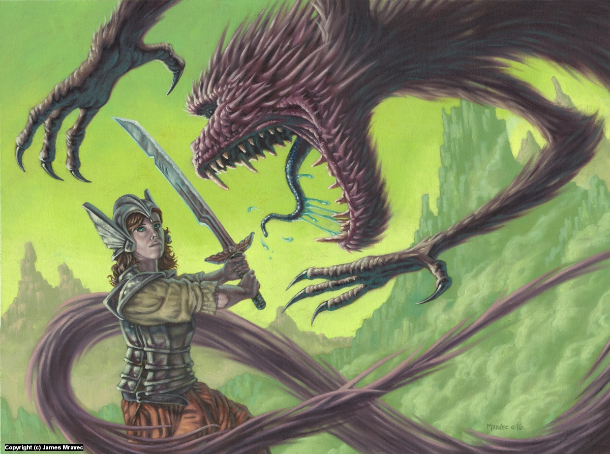 Wraith Warrior Artwork by James Mravec