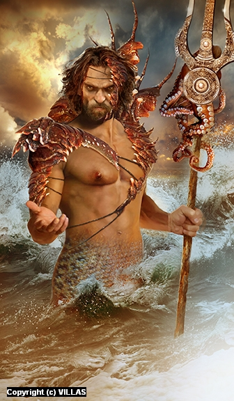 POSEIDON Artwork by CARLOS VILLAS