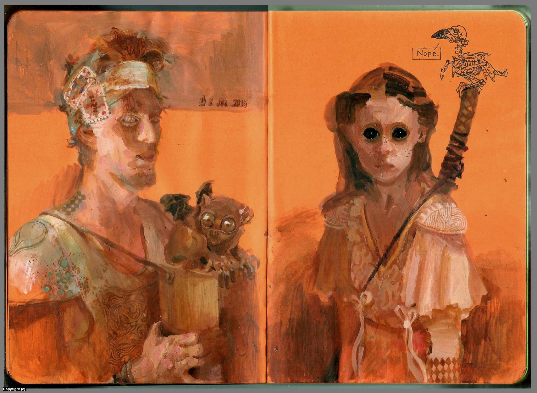 Toned Sketchbook Artwork by Anand  Radhakrishnan