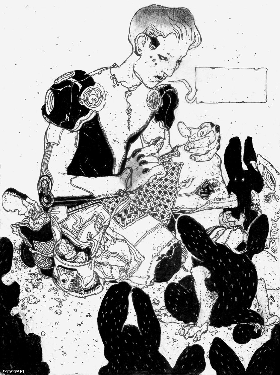 Selected Ink drawings Artwork by Anand  Radhakrishnan
