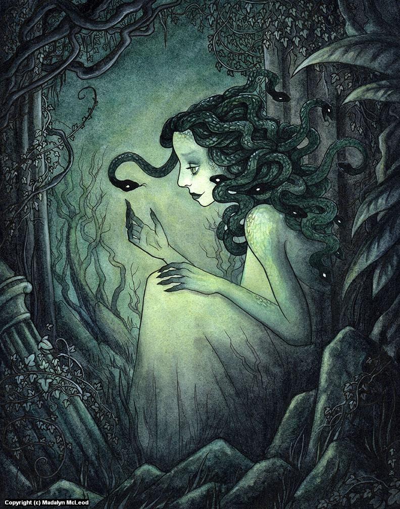 Medusa Alone Artwork by Madalyn McLeod