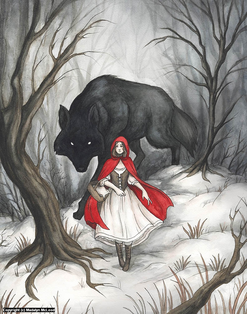 Little Red Riding Hood Artwork by Madalyn McLeod
