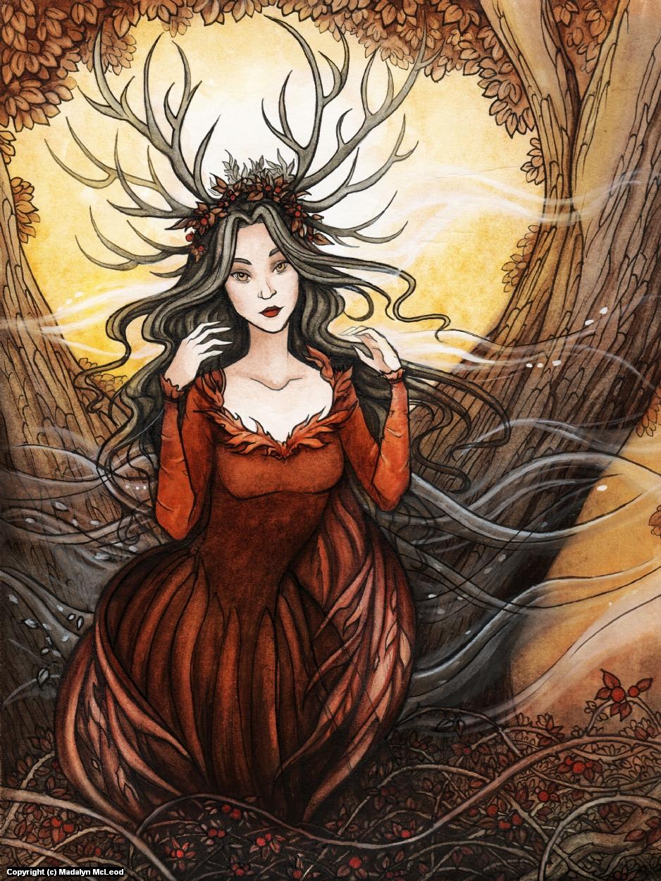 Queen of Autumn Artwork by Madalyn McLeod