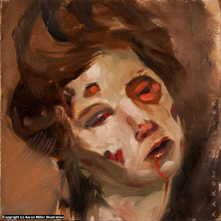 Zombie Portrait Artwork by Aaron Miller