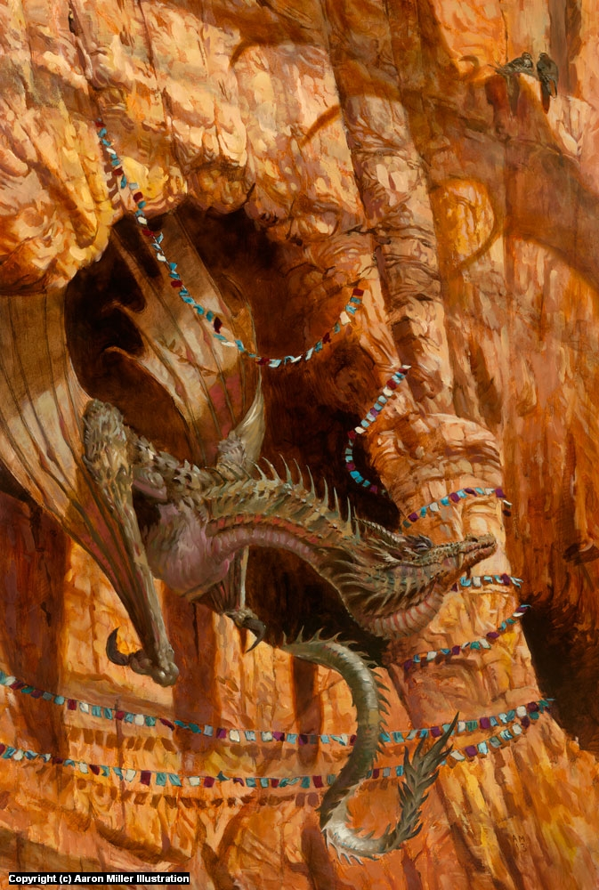 Dragons of Red Rocks Canyon Artwork by Aaron Miller