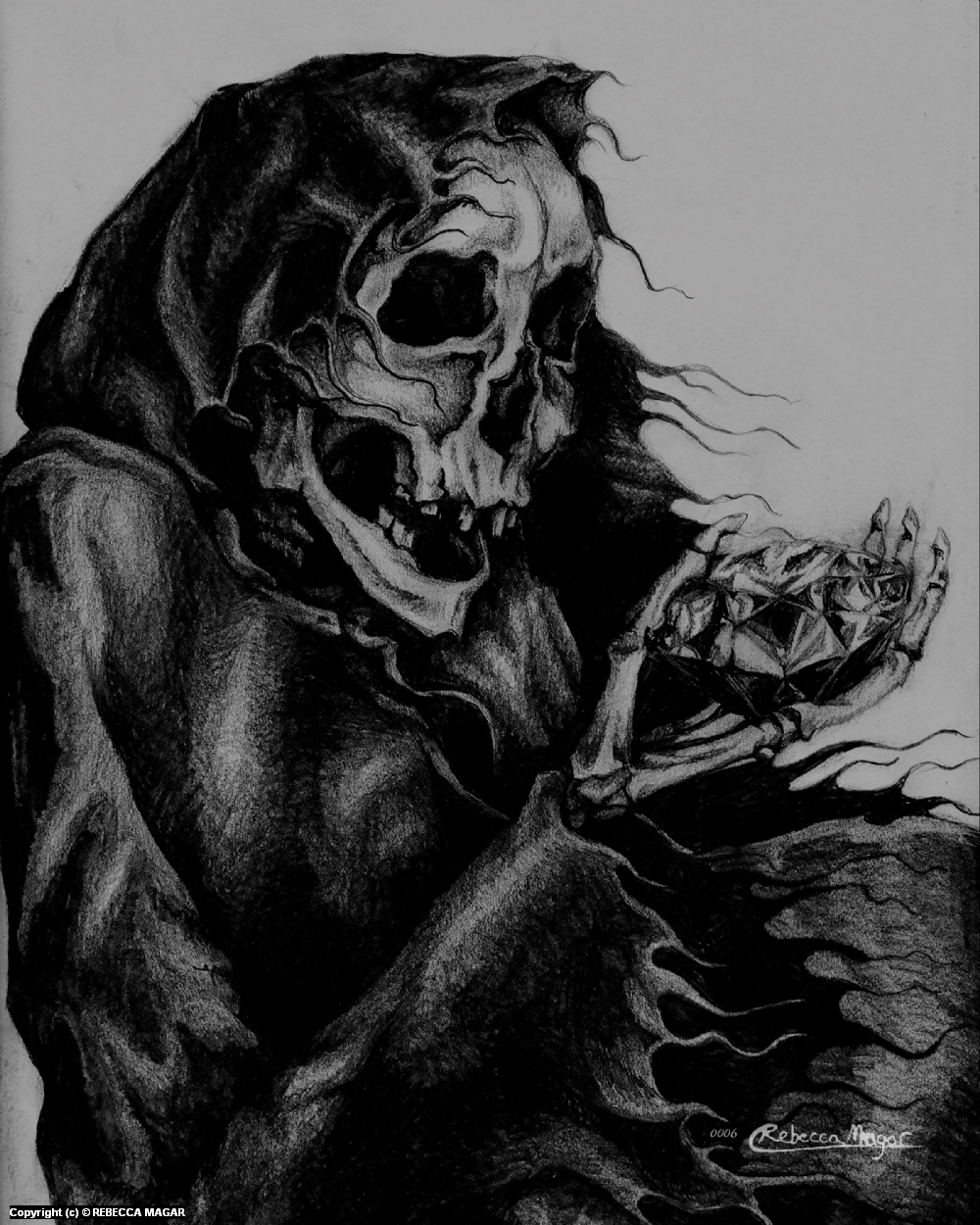 Death Diamond Artwork by Rebecca Magar