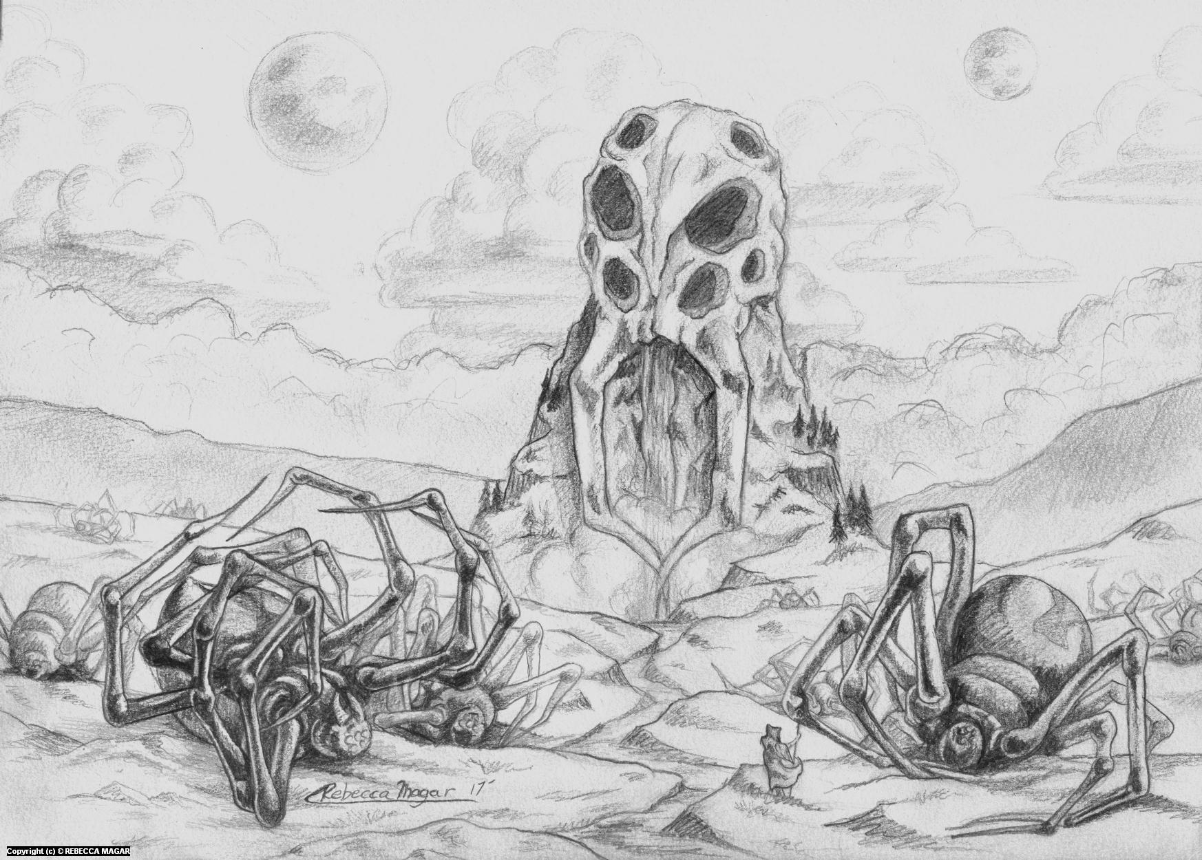 Arachnia Artwork by Rebecca Magar