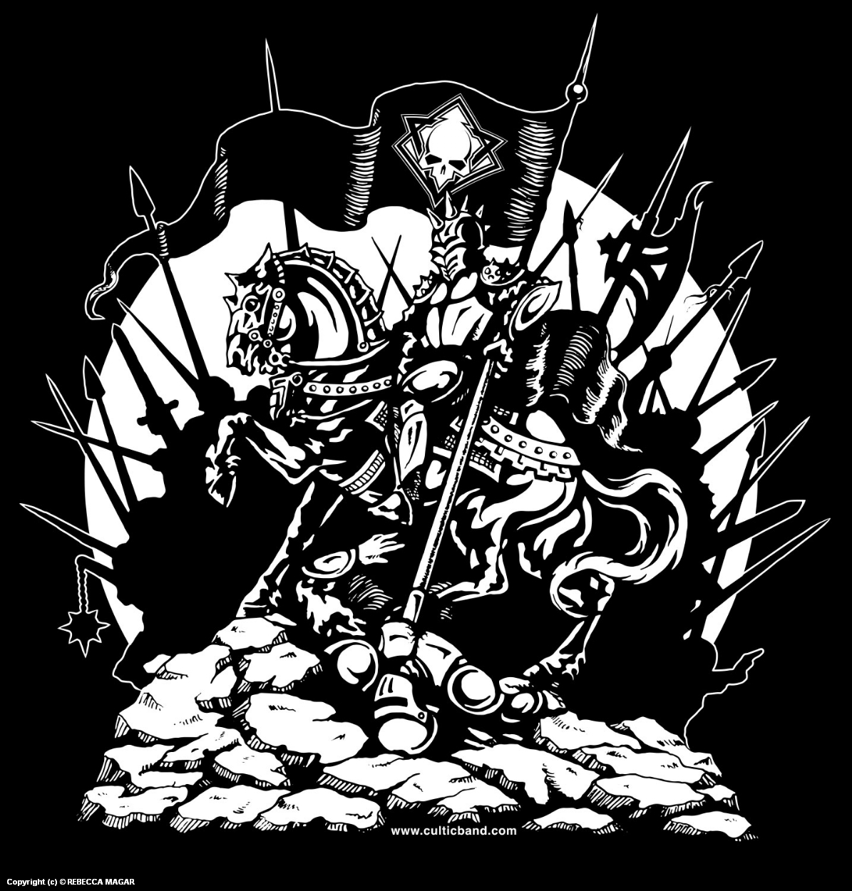 Conqueror T-Shirt Artwork by Rebecca Magar