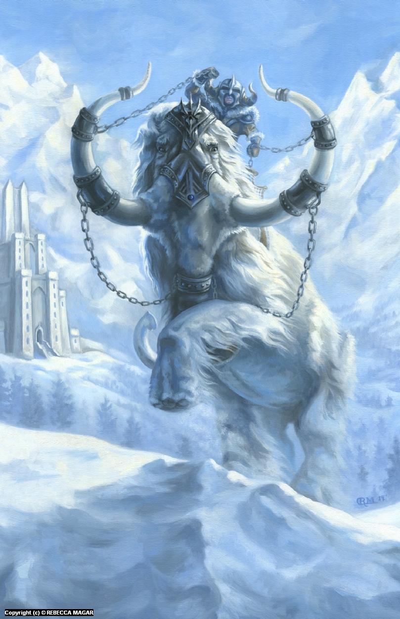 War Mammoth Artwork by Rebecca Magar