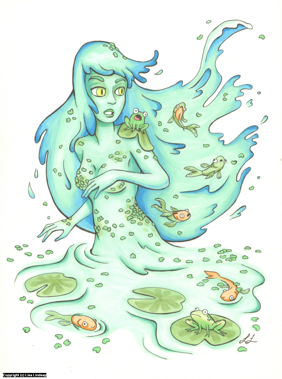Water Nymph Artwork by Lisa Lindsay
