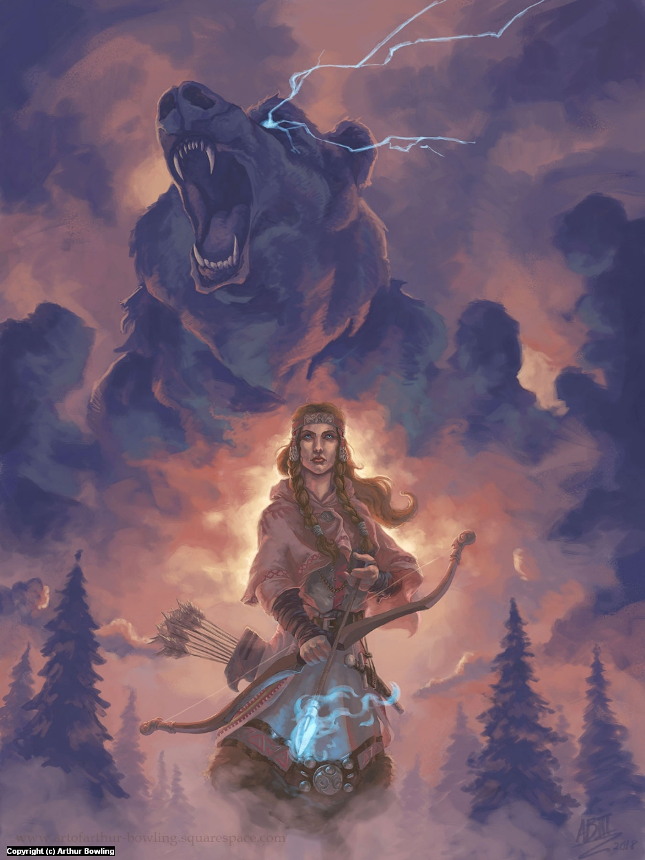 Devana, Goddess of the Wild Artwork by Arthur Bowling