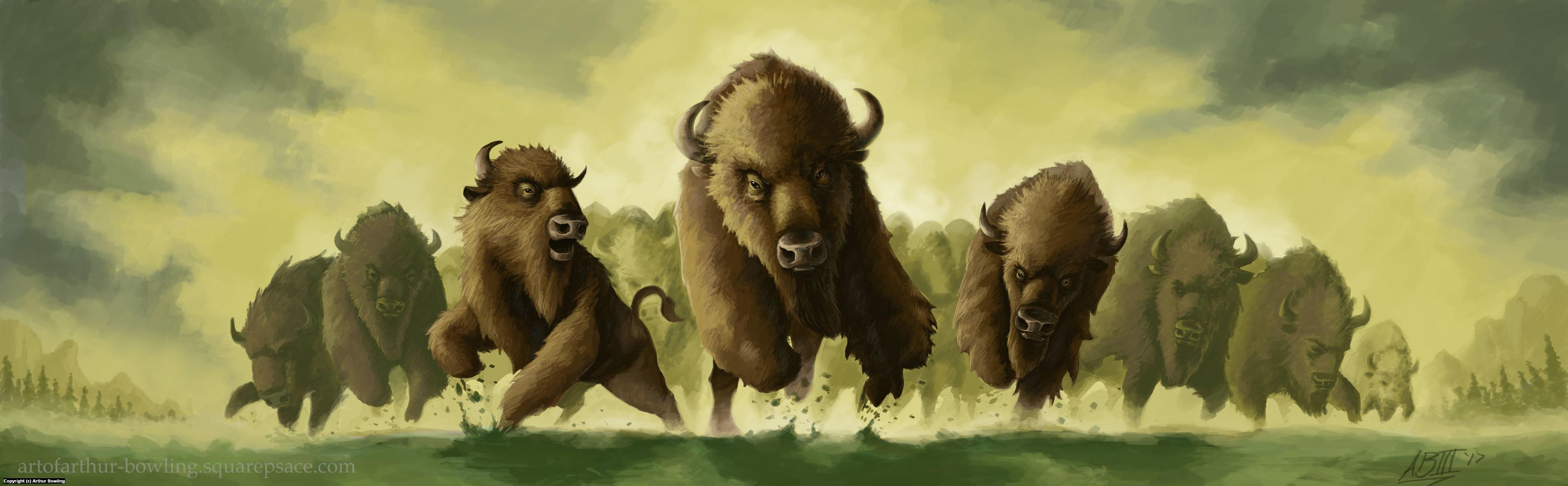 Thundering Herd Artwork by Arthur Bowling