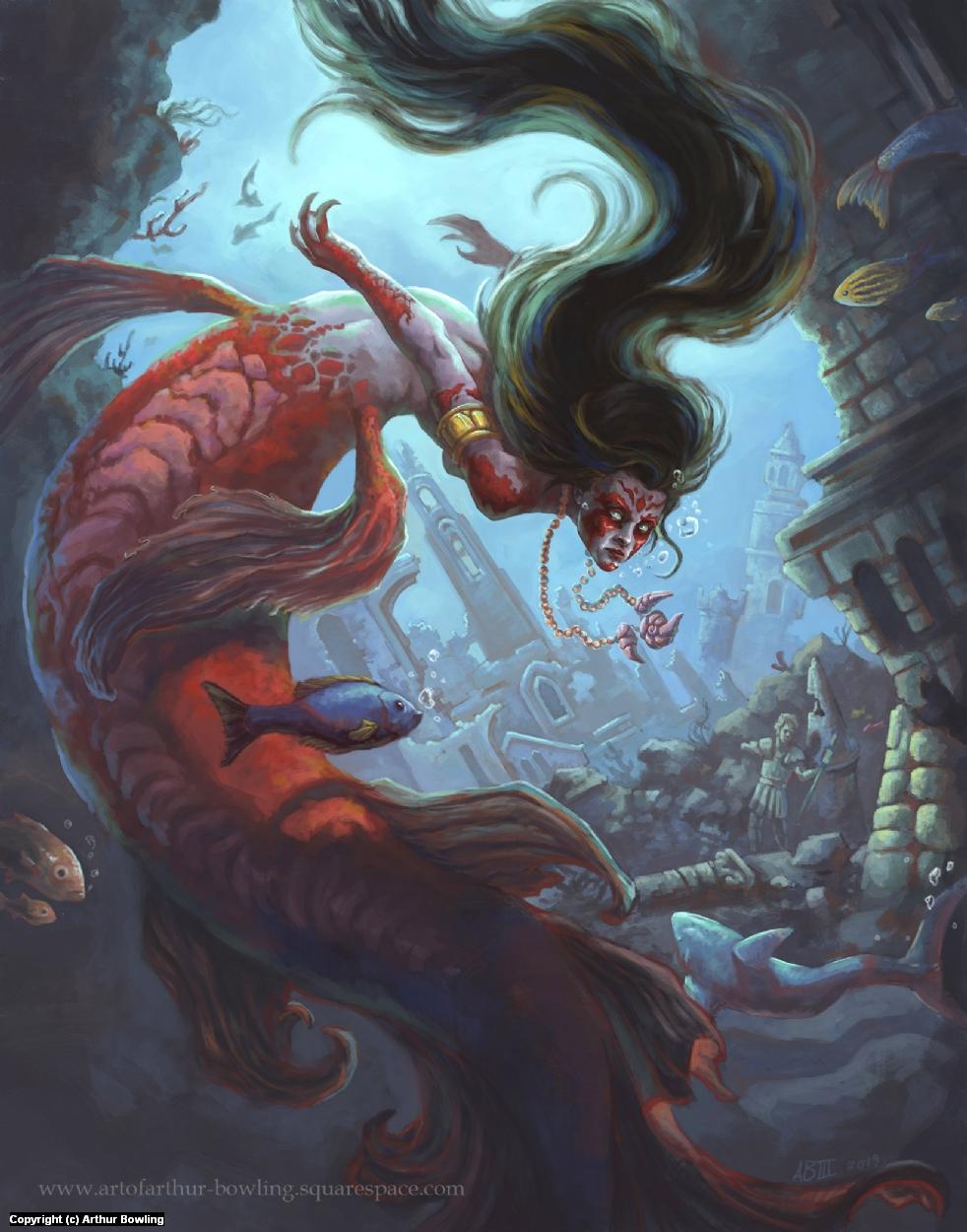 Siren Artwork by Arthur Bowling