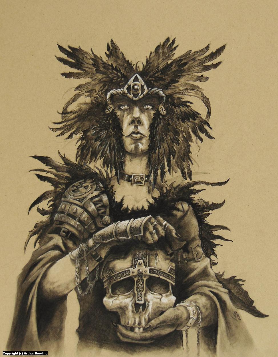 The Morrigan Artwork by Arthur Bowling