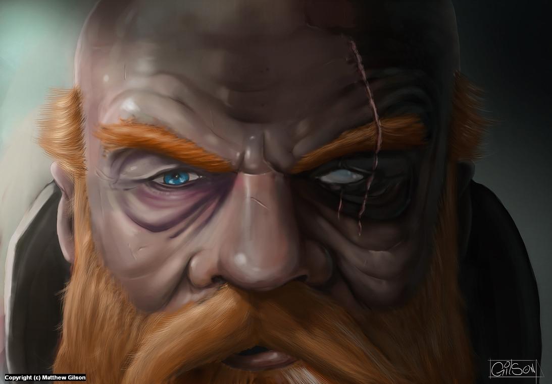 Dwarf Portrait Artwork by Matthew Gilson