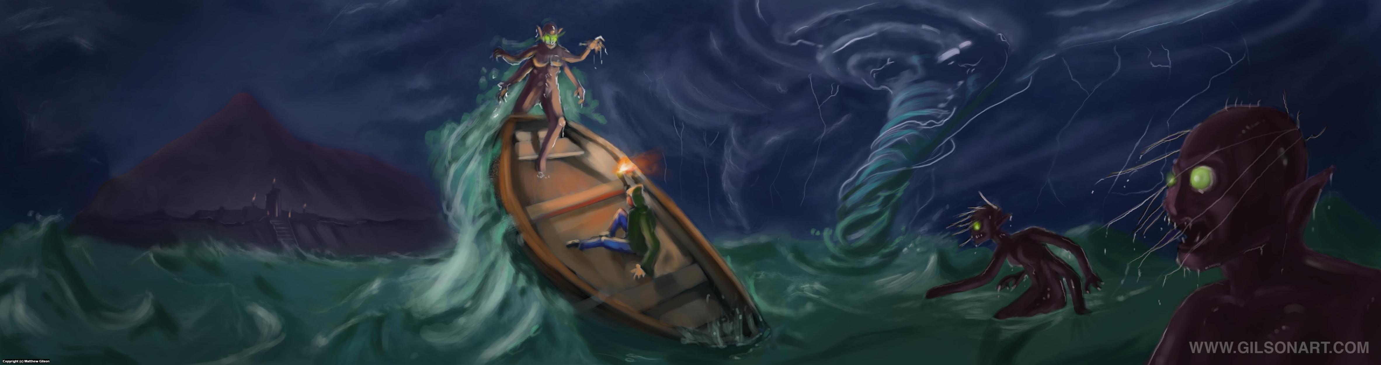 Doom of The Sea Artwork by Matthew Gilson